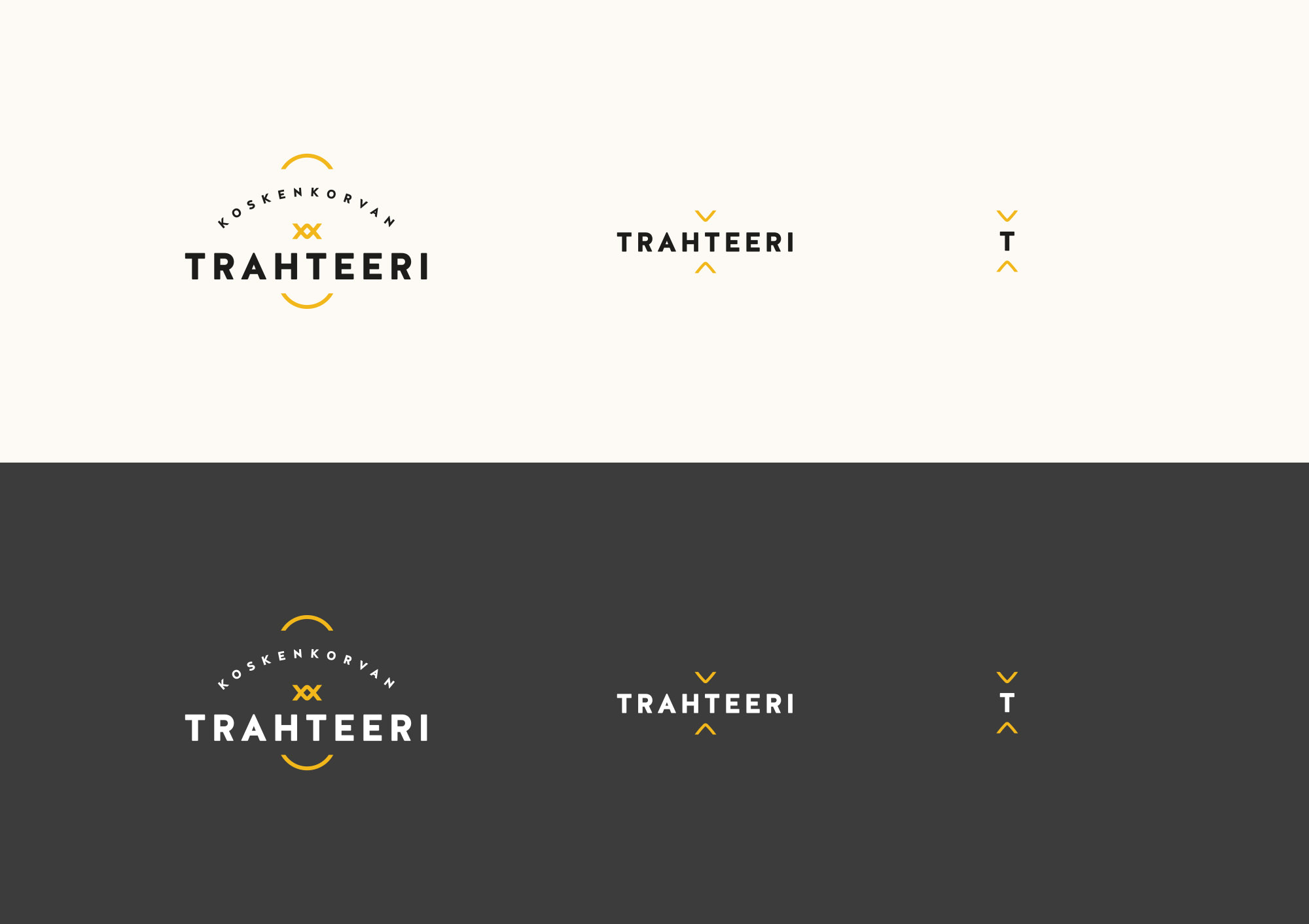 Koskenkorvan Trahteeri: Responsive Logo