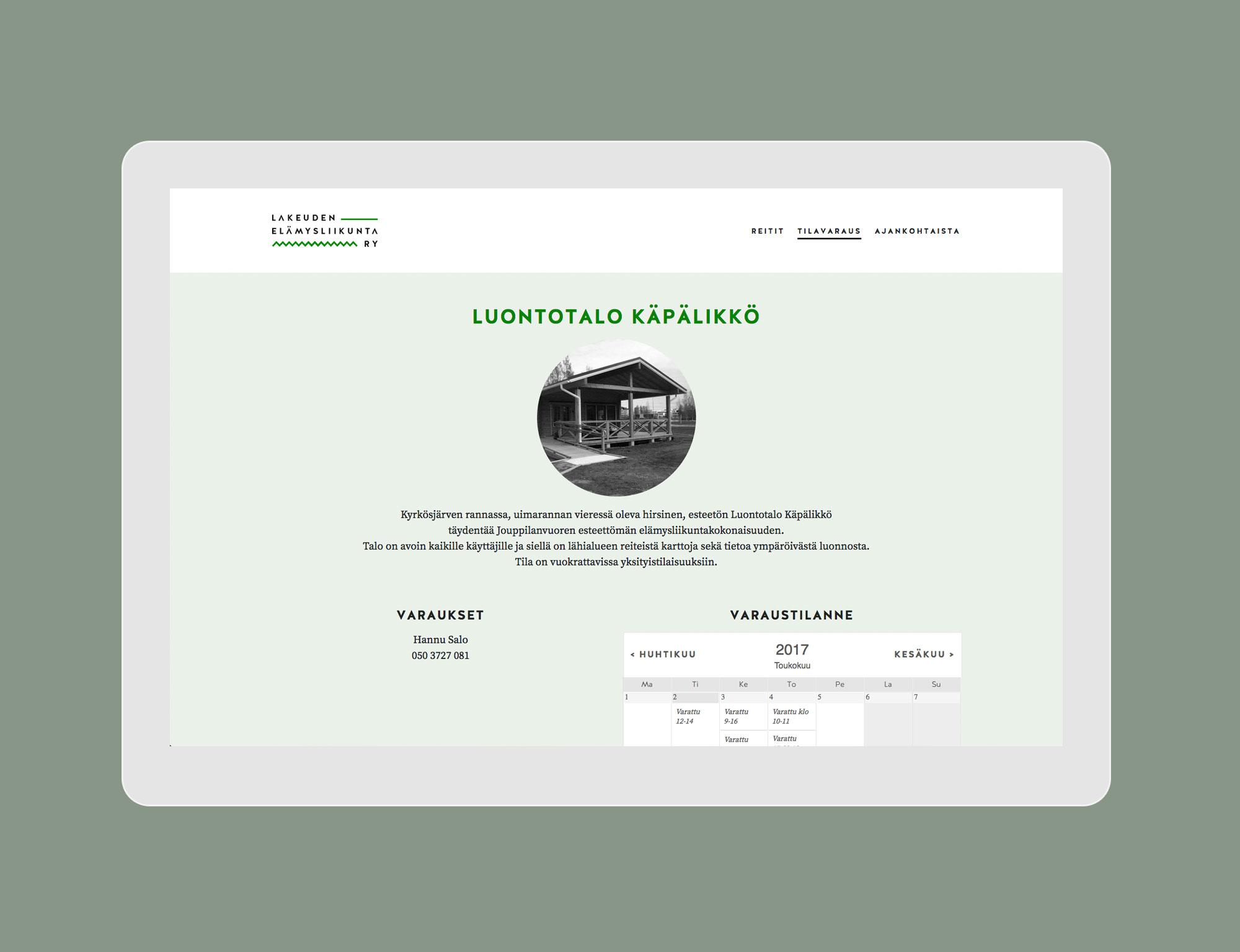 Lakeuden elämysliikunta: Booking
