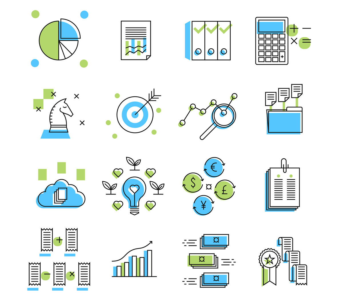 Icons for an accounting company.