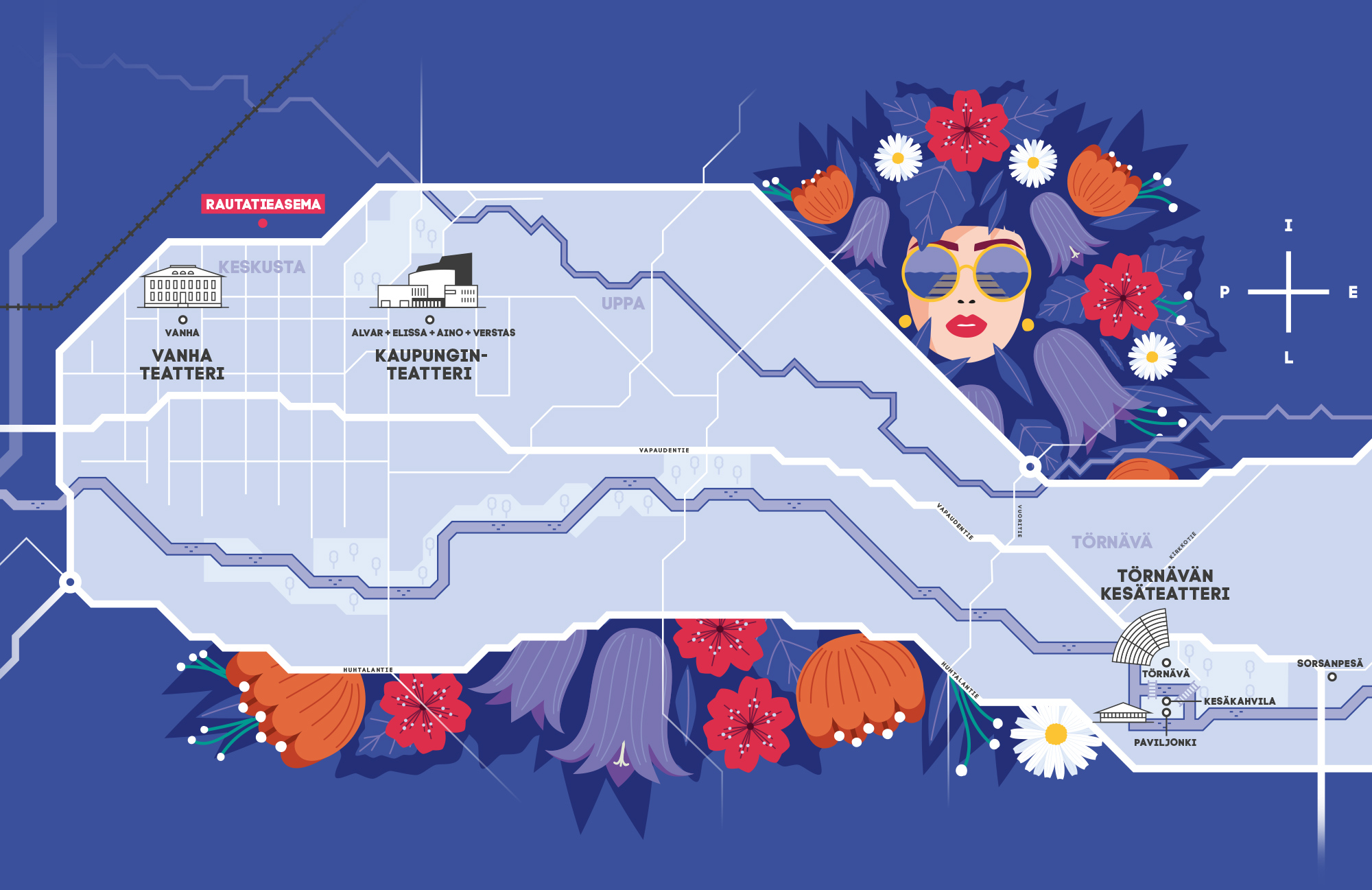 Törnävän kesäteatteri: Map